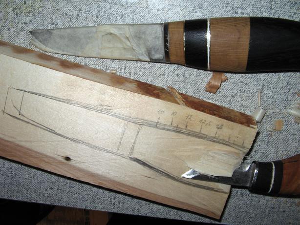 Ножны из дерева.