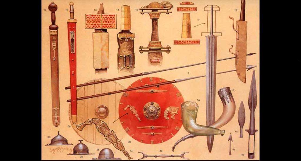 Древнее оружие франков.