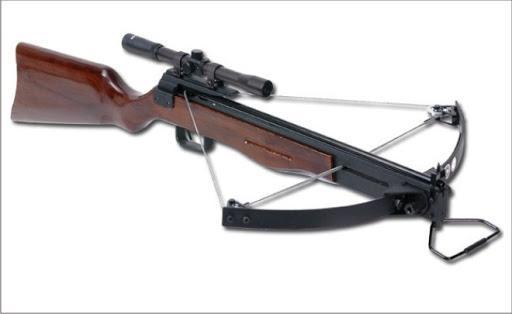 Арбалет винтовочного типа.